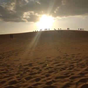 località costiere vietnam del sud - dune di sabbia