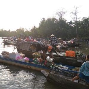 Mekong Delta, float market