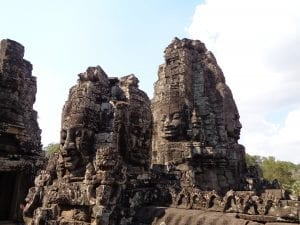 i templi di angkor - bayon, facce