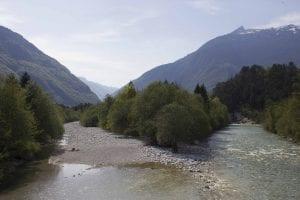 Bovec slovenia escursione - paesaggio arrivati al ponte