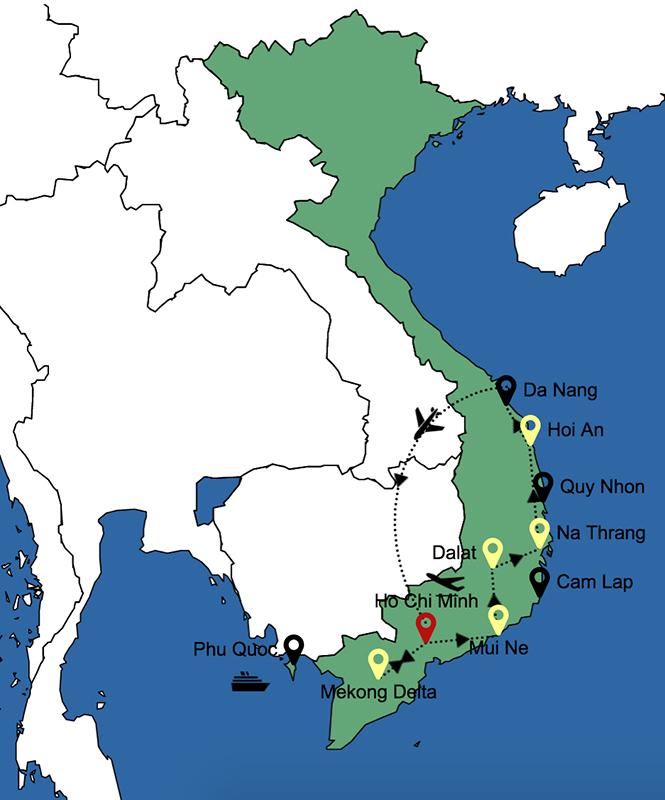 itinerario 2 settimane sud